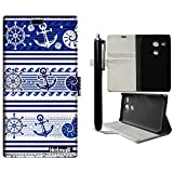 Nexus 5X Case,Hotmall(R)Illustration design [Flip Cover Stand][Card Slot][Slim Fit][Wallet]-For LG Nexus 5X (Blue Anchor Underwater World)