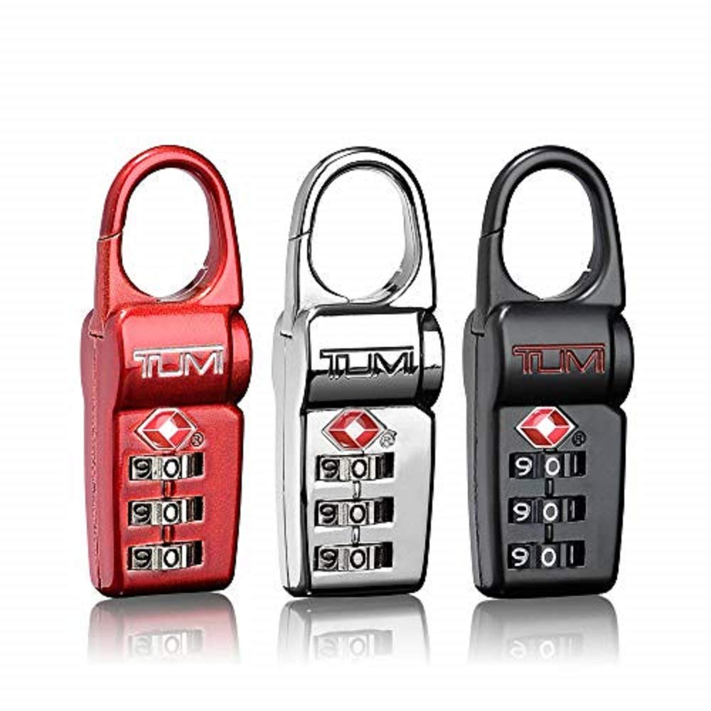 TUMI - Travel Accessories Luggage Locks - Set of 3 TSA-Approved Lock - Black/Red/Silver by TUMI
