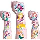 Mermaid Temporary Tattoos for Kids - Beautiful Mermaid Tattoos Body Art Waterproof Temporary Tattoos Fake Tattoos for Girls B