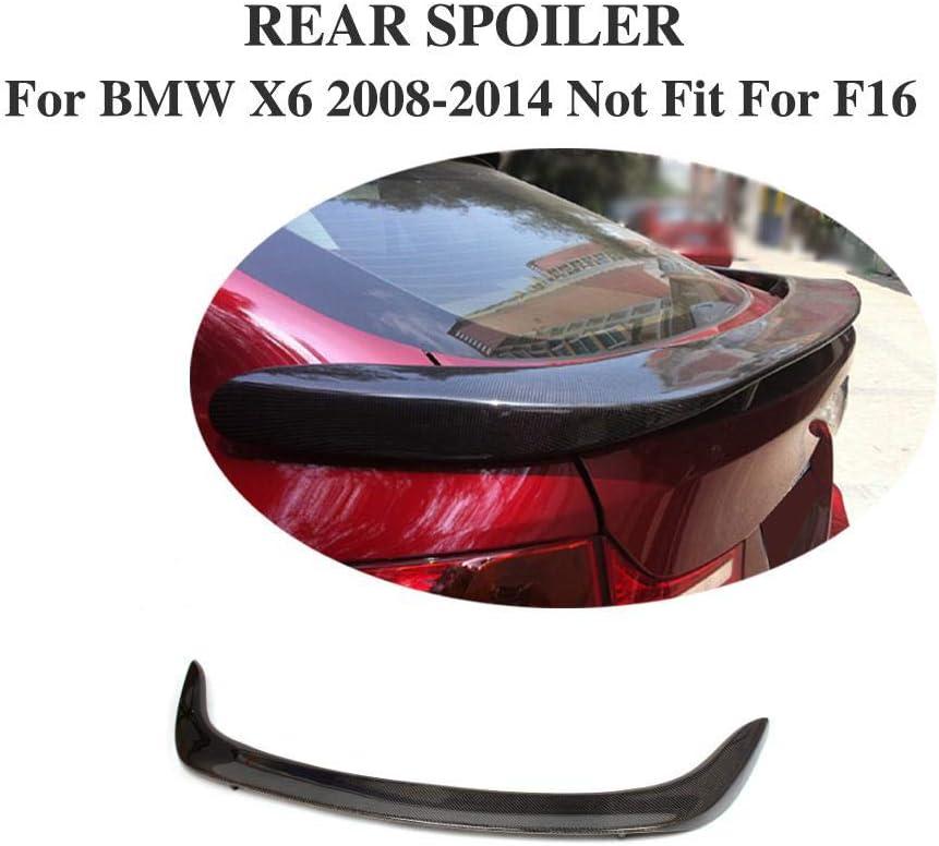 Universal Coche Maletero ala Cola Accesorios Nuevo Trim para BMW X6 E71 2008-2014 Car Rear Trunk Techo Spoiler Lip GLFDYC Auto Fibra de Carbon Aler/ón Trasero Spoiler