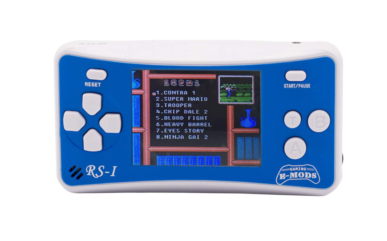 Hisonders 8-Bit Retro Portable Video Game Player for Kids, Handheld Console Built in 162 Games (Blue)