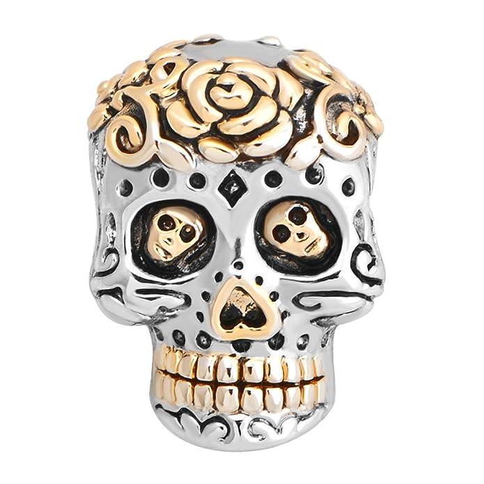 Sug Jasmin Perle pour bracelet T/ête de mort mexicaine type /«/dia de los muertos//»