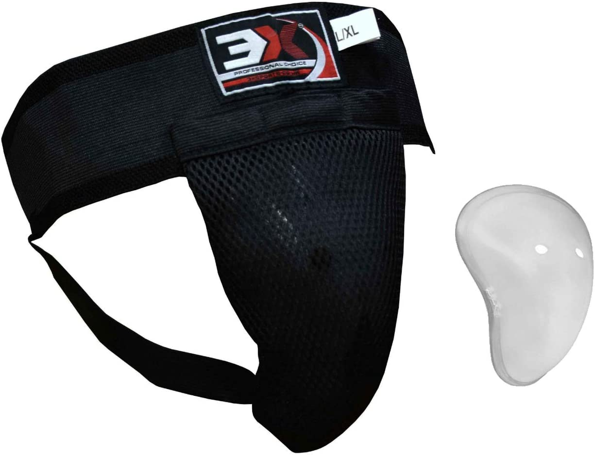 3X Professional Choice Maya Hide Leather Groin Guard Muay Thai MMA Abdo Gear Protector Martial Arts Cup Sparring Jock Strap