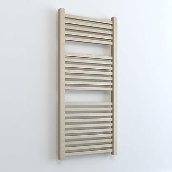Calefactor eléctrico con varilla de calefacción y regulador, Radiador Calentador de toallas, recto Laurel cromo/blanco/negro 800 arena: Amazon.es: Hogar