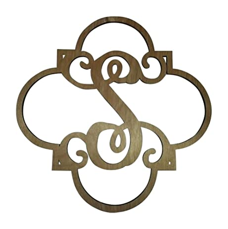 Amazon Com Fancy Vine Monogram Letter S Laser Cut 3 16 Inch