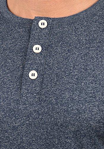 100 Blue Tunisien Pour Espen Insignia Manches Melange solid 8991 À shirt Homme T Coton Longues B7UBqazw8