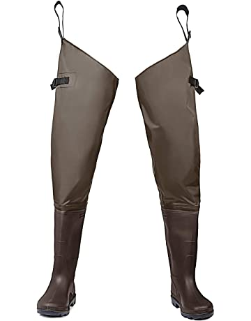 a7c8c86d8ca FISHINGSIR Fishing Hip Waders for Men with Boots Waterproof Breathable Hip  Boots Women
