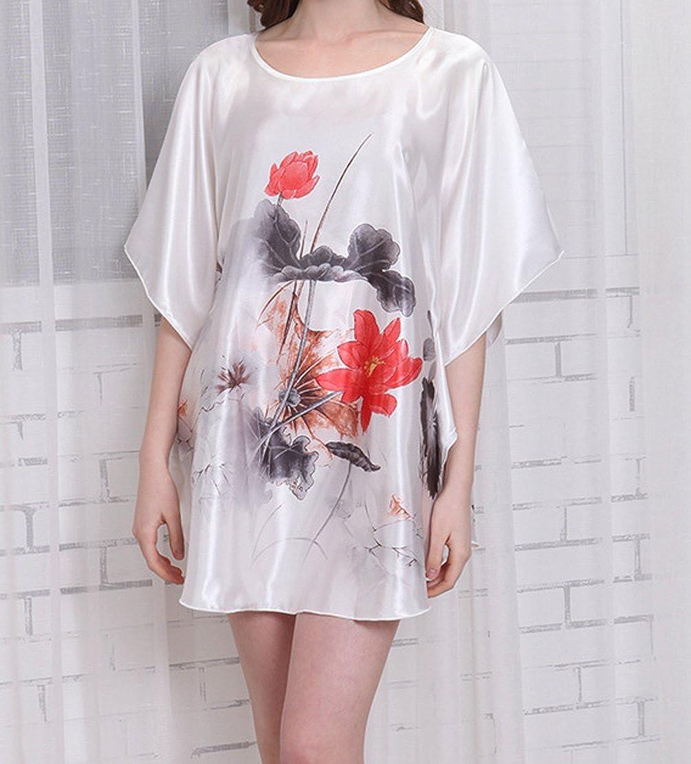 TT Global Femmes Robes Chemisiers Blouses pour Maillot de Bain Bikini Et/é Plage Kimono Femme Gilet Cardigan Caftan Long /Ét/é Floral Imprim/é en Mousseline de Soie V/êtement Cover up