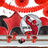 Ninja Warrior Party Childrens Birthday Party Supplies - Decoration Pack
