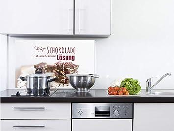 GRAZDesign Spritzschutz Küche Glas Küchenspruch - Wandpaneele Küche ...