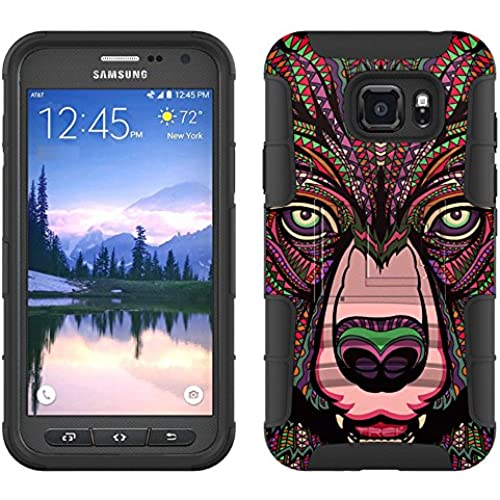 Samsung Galaxy S7 Active Armor Hybrid Case Aztec Bear Head 2 Piece Case with Holster for Samsung Galaxy S7 Active Sales