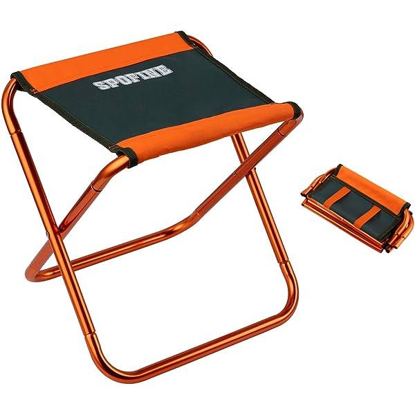 Azarxis Mini Camping Stool Chair Seat Folding Low Lightweight Heavy Duty Comp...