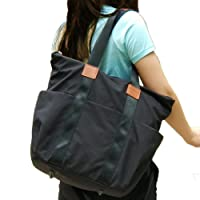 Baby Changing Bag Nappy Tote- Hohope Large Capacity Organizer Women Convertible Backpack with Changing mat Black