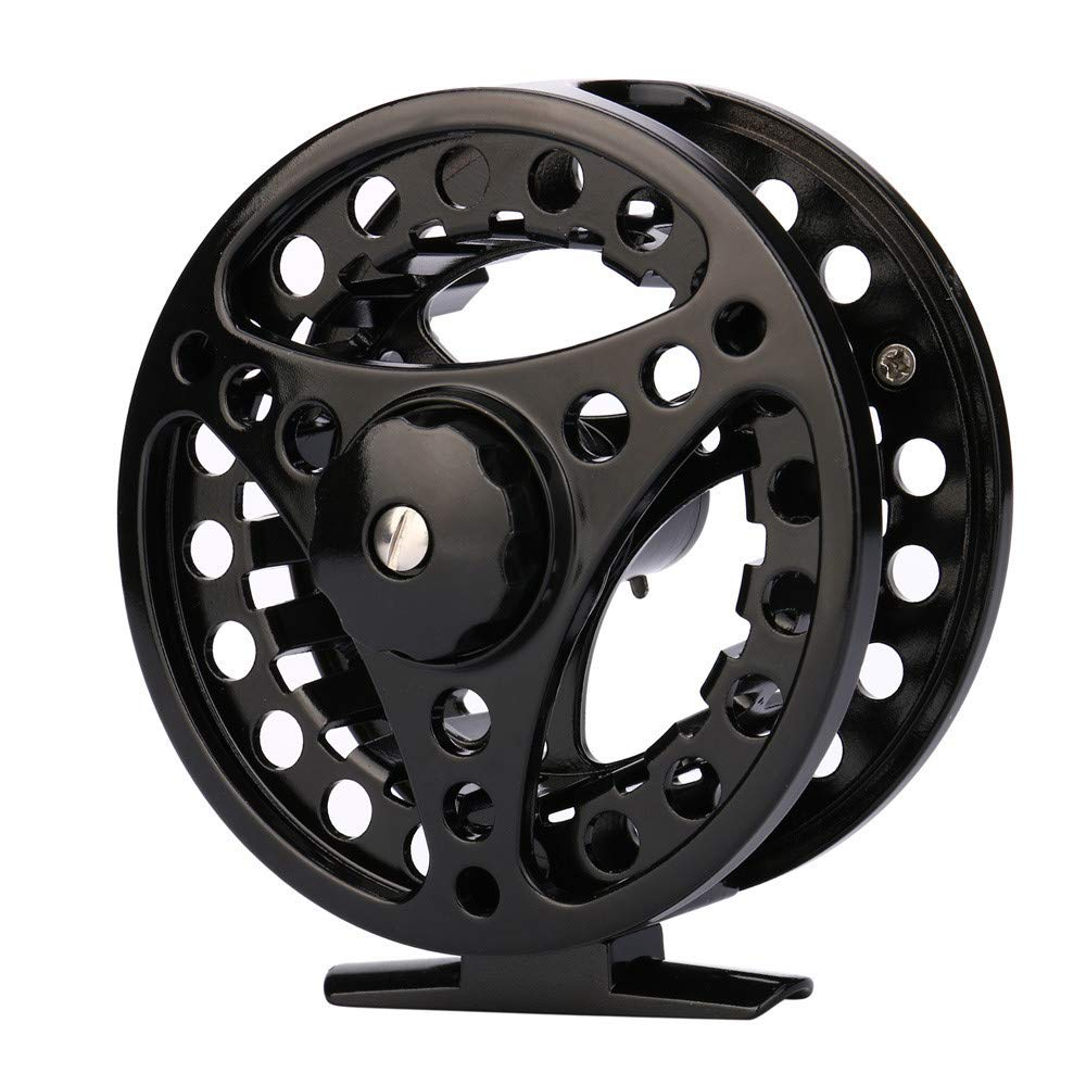 SMyFone Fly Reel 3/4/5/6/7/8 WT Large Arbor Silver/Black Aluminum Fly Fishing Reel,Left