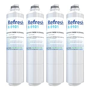 Refresh Replacement for Samsung DA29-00020A, DA29-00020B, HAF-CIN/EXP, 46-9101 Refrigerator Water Filter (4 Pack)