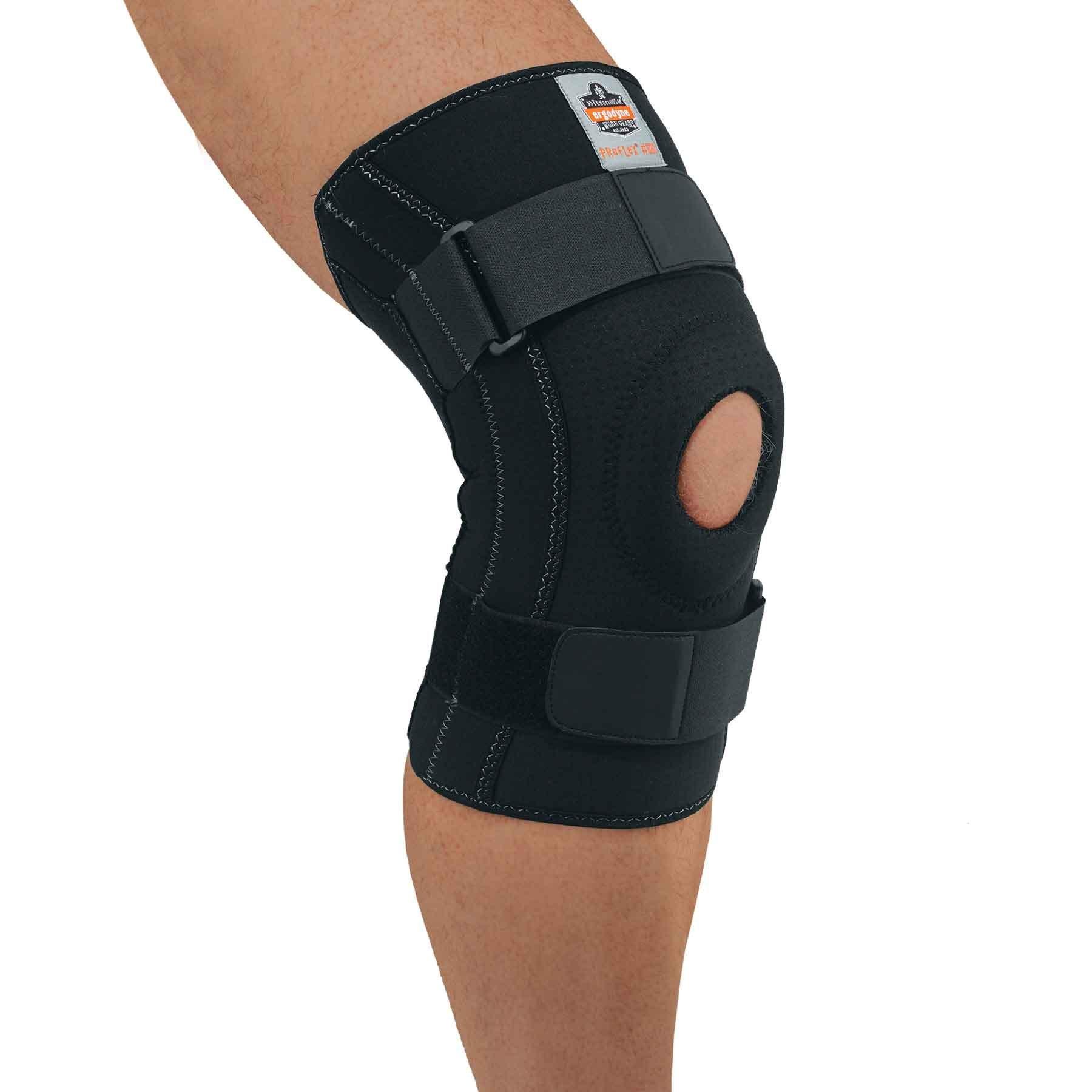 Ergodyne - 620 2XL Black Knee Sleeve w/Open Patella/Spiral Stays