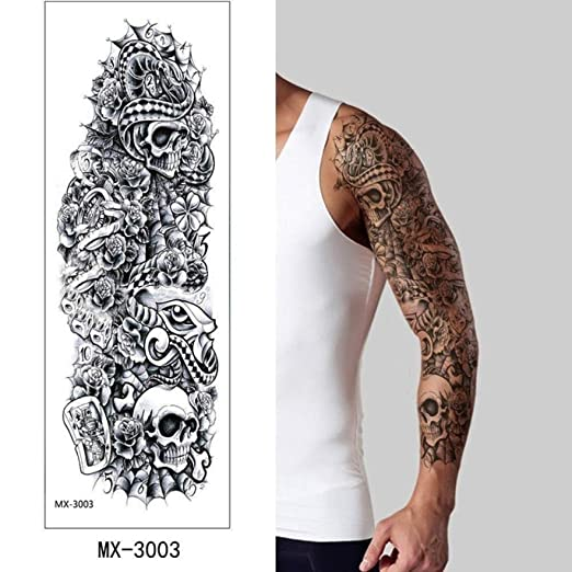 adgkitb 2 Piezas Brazo Tatuaje Temporal Pegatina Flores Bonitas ...