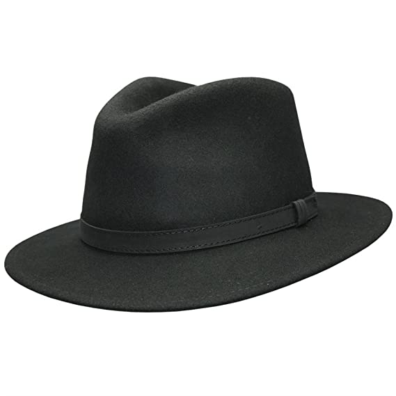 cf6bec429 Cotswold Country Hats FEDORA HAT WITH FAUX LEATHER BAND MENS LADIES  CRUSHABLE