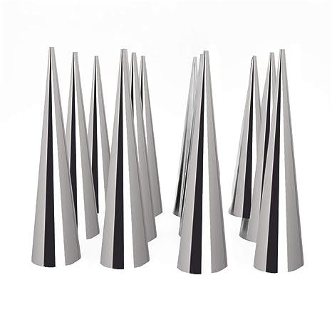 Amazon.com: Juego de 12 moldes de acero inoxidable para ...