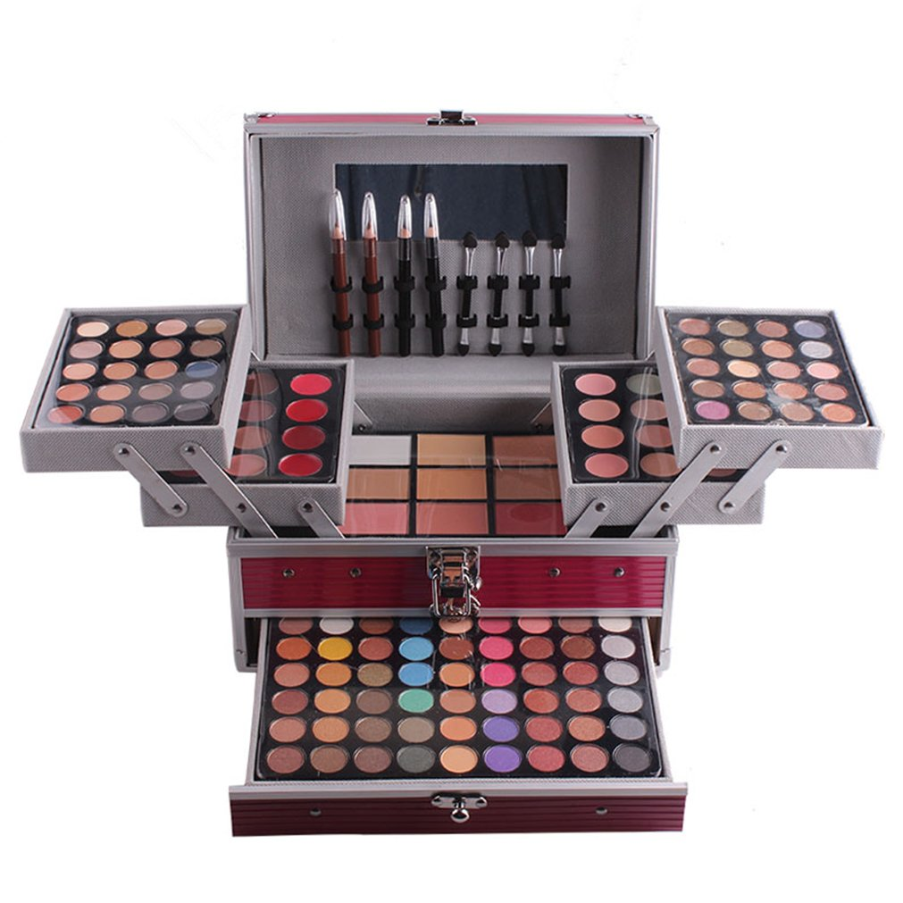 Pure Vie 132 Colors All In One Pro Makeup Kit Including 94 Eyeshadow, 12 Concealer, 3 Pressed Powder, 12 Lip Gloss, 3 Blush, 8 Eyebrow Powder - Make Up Contouring Kit for Salon and Daily Use #N2