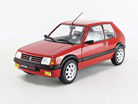 PEUGEOT 205 GTI MKI 1.9 Sport 1985 red rot NEU Solido Metall 1:18
