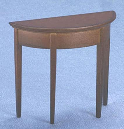 Half Rond Side Table.Amazon Com Dollhouse Miniature 1 12 Half Round Side Table