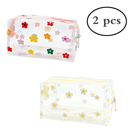 Amazon.com: Bonitas bolsas de maquillaje transparentes de ...