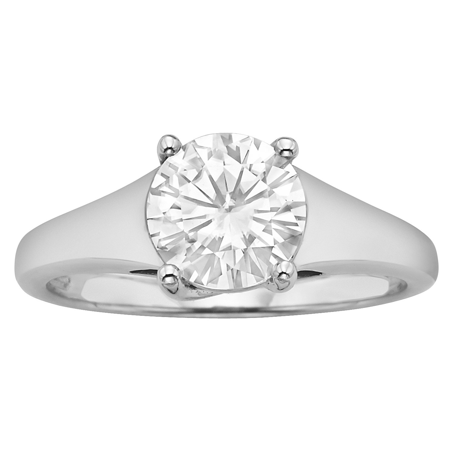 Forever Brilliant 7.5mm Moissanite Solitaire Engagement Ring - size 6, 1.50ct DEW By Charles & Colvard