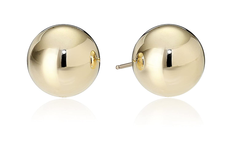 10k Yellow Gold Ball Stud Earrings Amazon Collection 11-E45-6000