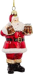 Coca-Cola Kurt Adler Glass Santa Ornament, 5-Inch