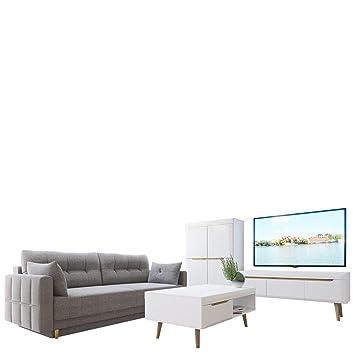 Mirjan24 Wohnzimmer Set Nordi 6 + Sofa Lena, Wohnzimmer Im Skandinavischen  Stil. Schlafsofa