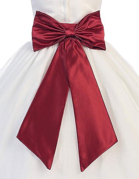 a31383951b Amazon.com  Hot Dresses Flower Girl Sash Belt with Big Bow (M ...