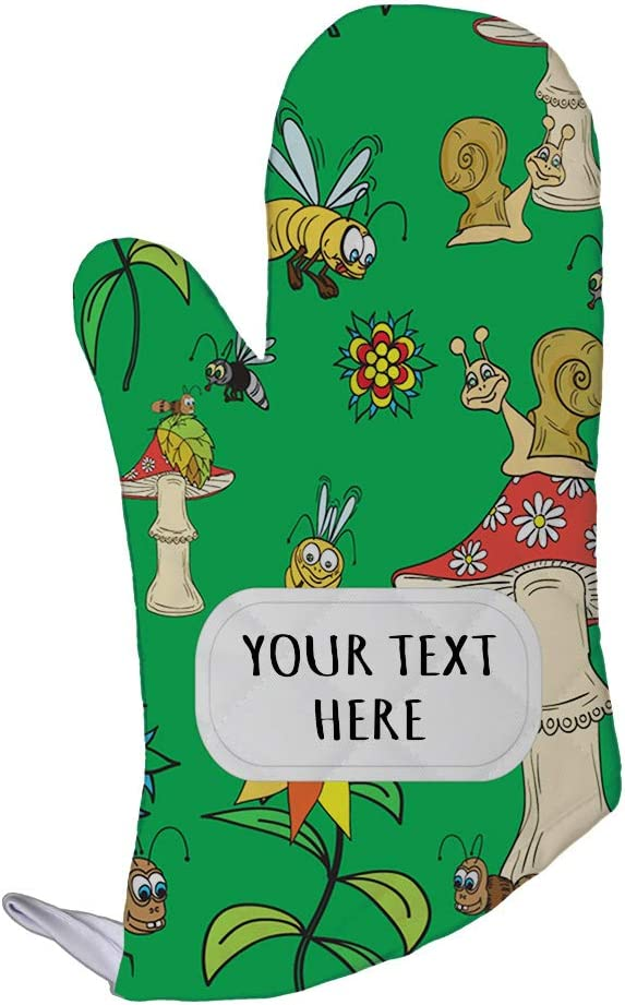 Polyester Oven Mitt Custom Mushrooms with Insect Seemless Pattern Adults Kitchen Mittens
