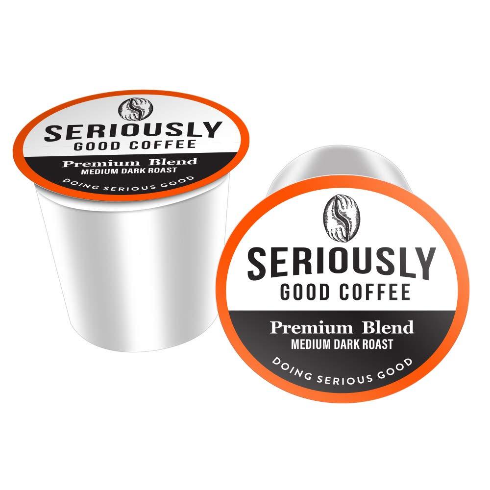Seriously Good Coffee Pods for Keurig k-cup brewers - PREMIUM Central & South American Blend, Gourmet Arabica Coffee, Fair Trade, Medium Dark Roast