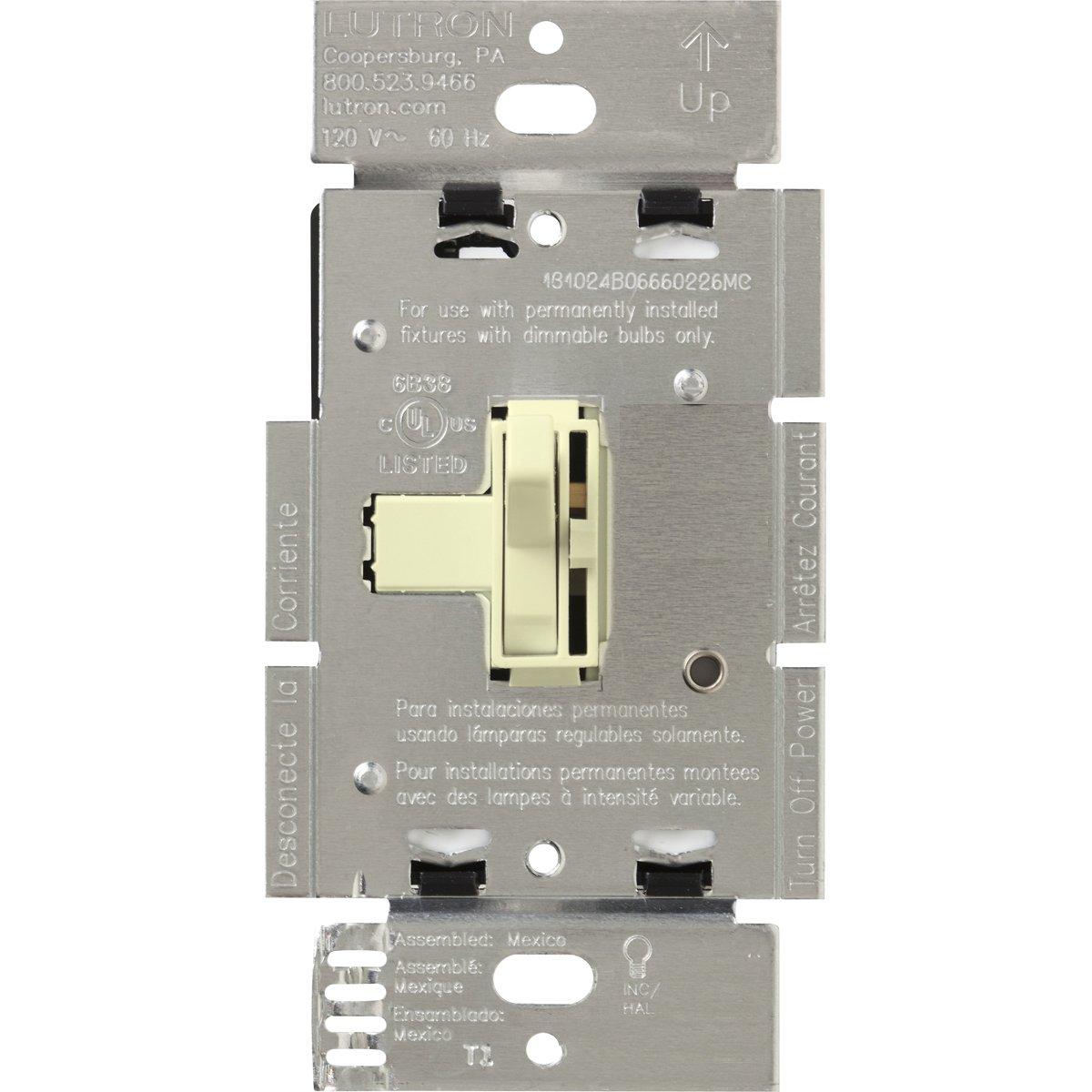 Lutron Ariadni 450-watt 3ウェイ磁気低電圧ディマースイッチ AYLV-603P-AL 1 B000MAUMO2 アーモンド アーモンド