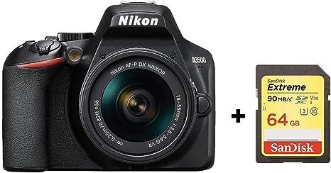 Nikon D3500 + AF-P DX Nikkor 18-55 mm VR Kit: Amazon.es ...