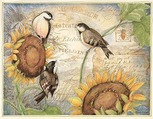 Lang Sunflower Birds Boxed Note Cards by Susan Winget, 4 x 5.25 inches, 13 Cards and Envelopes (1005334)