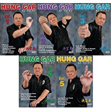 5 DVD Set Hung Gar Kung Fu forms fighting footwork balance ++ GM Buck Sam Kong