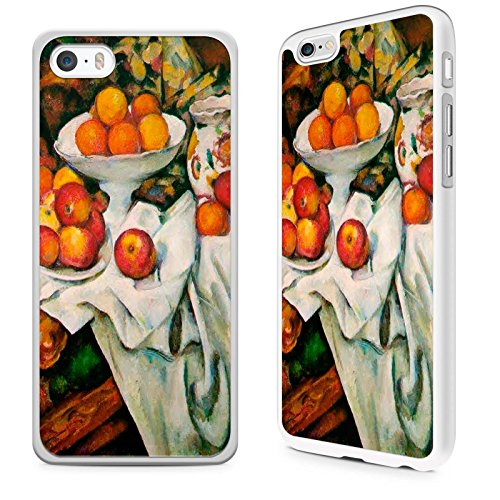 Oranges Apples And Cezanne - Gadget Zoo Classic Art Collection Apples and Oranges, Paul Cezanne Famous Artist Painting Range Phone Case Hard Cover For iPhone 5C White