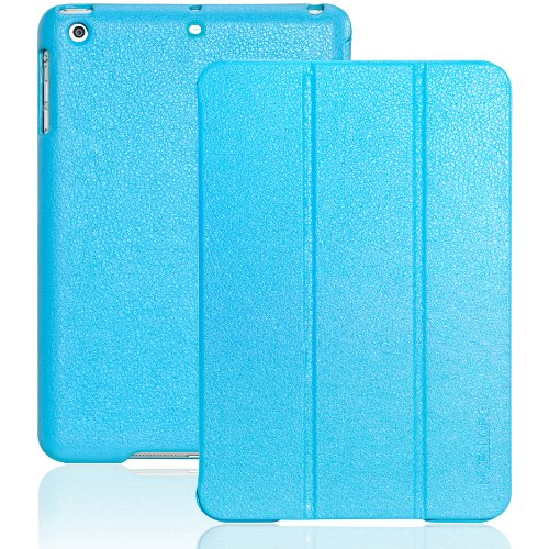 INVELLOP Vintage Blue Leatherette Case Cover for iPad mini