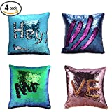 Pillow Case Sequins Cushion Cover - Wonder4 4Pack - Best Reviews Guide