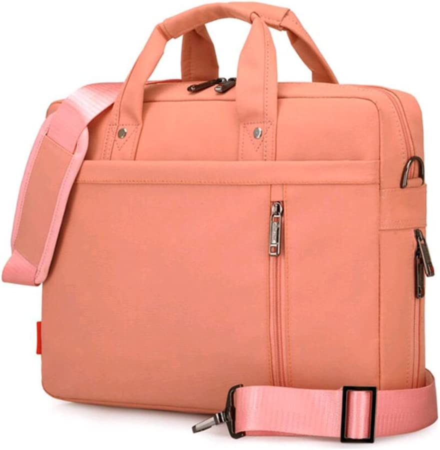 "SNOW WI 13.3"" Expandable Laptop Shoulder Bag for MacBook,Acer,Asus,Dell(Pink)"
