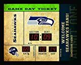 Seattle Seahawks Clock - 14x19 Scoreboard - Bluetooth