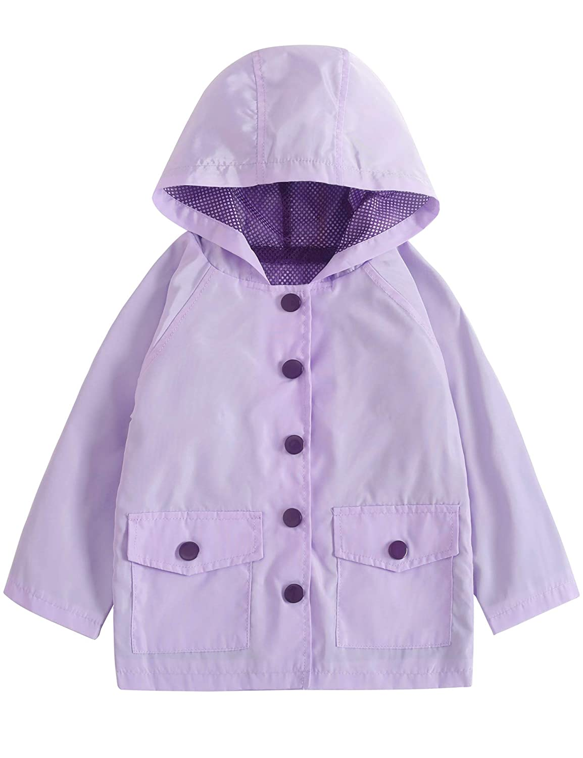 YNIQ Girls' Lightweight Raincoats