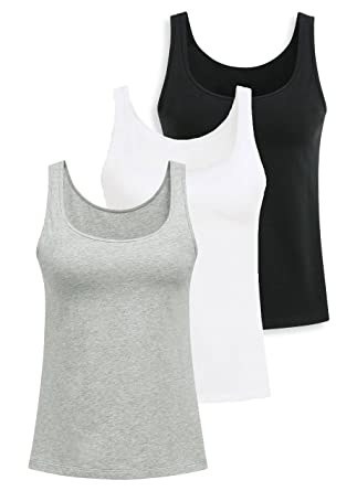 bed0df458e Yoga Tank Tops with Built-in Bra for Women Comfortable Sports Camisole