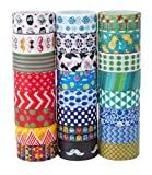 24 Rolls Washi Masking Tape Set,Decorative Craft Tape Collection for DIY and Gift Wrapping,by Mooker