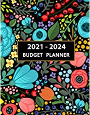 """Budget Planner 2021-2024: Four Year Calendar Budget Planner Size: 8.5"""" x 11""""