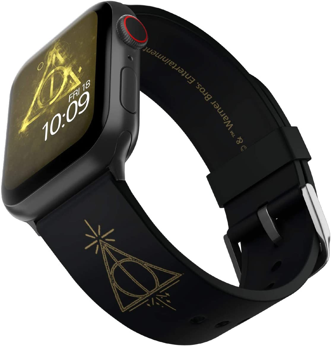 Harry Potter - Deathly Hallows Edition – Officially Licensed Silicone Smartwatch Band Compatible with Apple Watch, Fits 38mm, 40mm, 42mm and 44mm