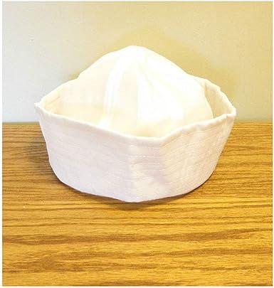 1 Sombrero de Marinero Blanco Azul Marino Popeye Gilligan Doughboy ...