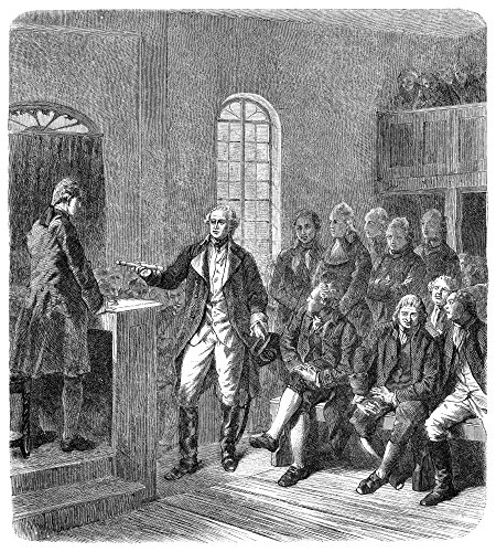 George Washington N(1732-1799) 1St President Of The United States Washington Resigning His Commission As Commander-In-Chief Of The Continental Army At Annapolis Maryland In 1783 Wood Engraving German (George Washingtons Commission As Commander In Chief)